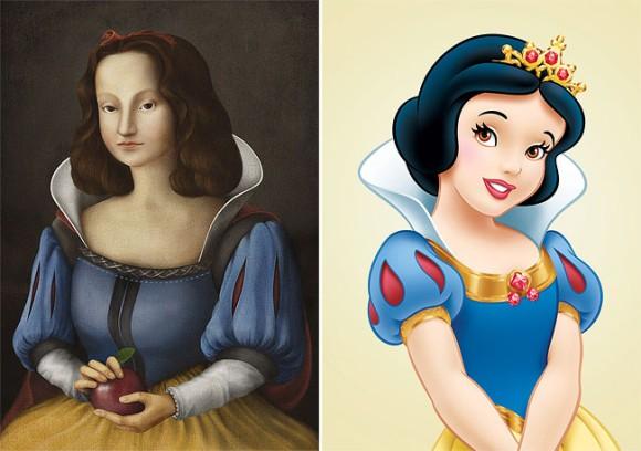ディズニーのプリンセスたちを中世の絵画風に描くとどうなるのか?こうなった。