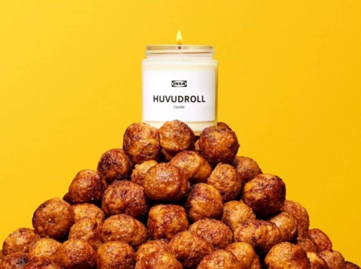 ミートボールの香りがするキャンドルをIKEAがプレゼントキャンペーン