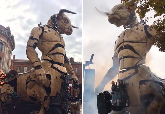 動くし乗れる!圧倒的存在感、機械仕掛けの巨大ミノタウロスがお披露目(フランス)