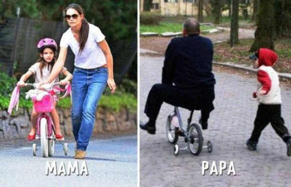 あるあるなのか?ネタなのか?母親と父親の子育てスタイルの違いがわかる20の比較画像