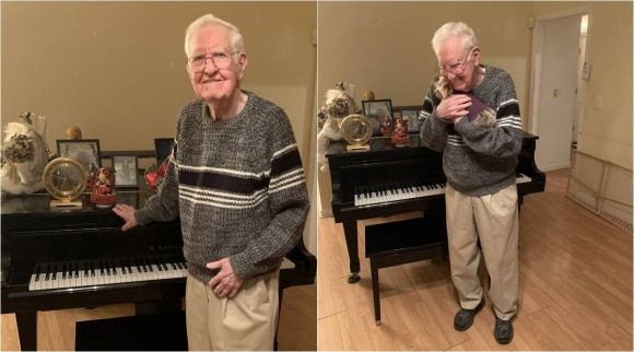 90歳の誕生日を迎えた父親の願いは「SNSってやつに載りたい」その願いが叶う(アメリカ)