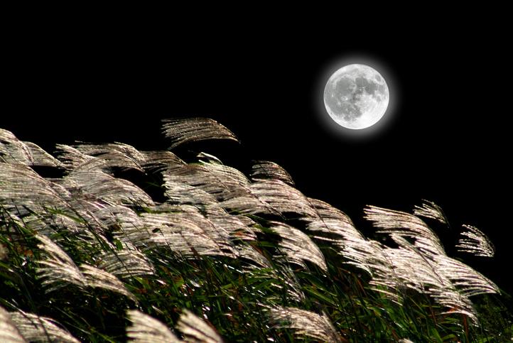 10月2日(6:05)は満月、十五夜の後にやってくる