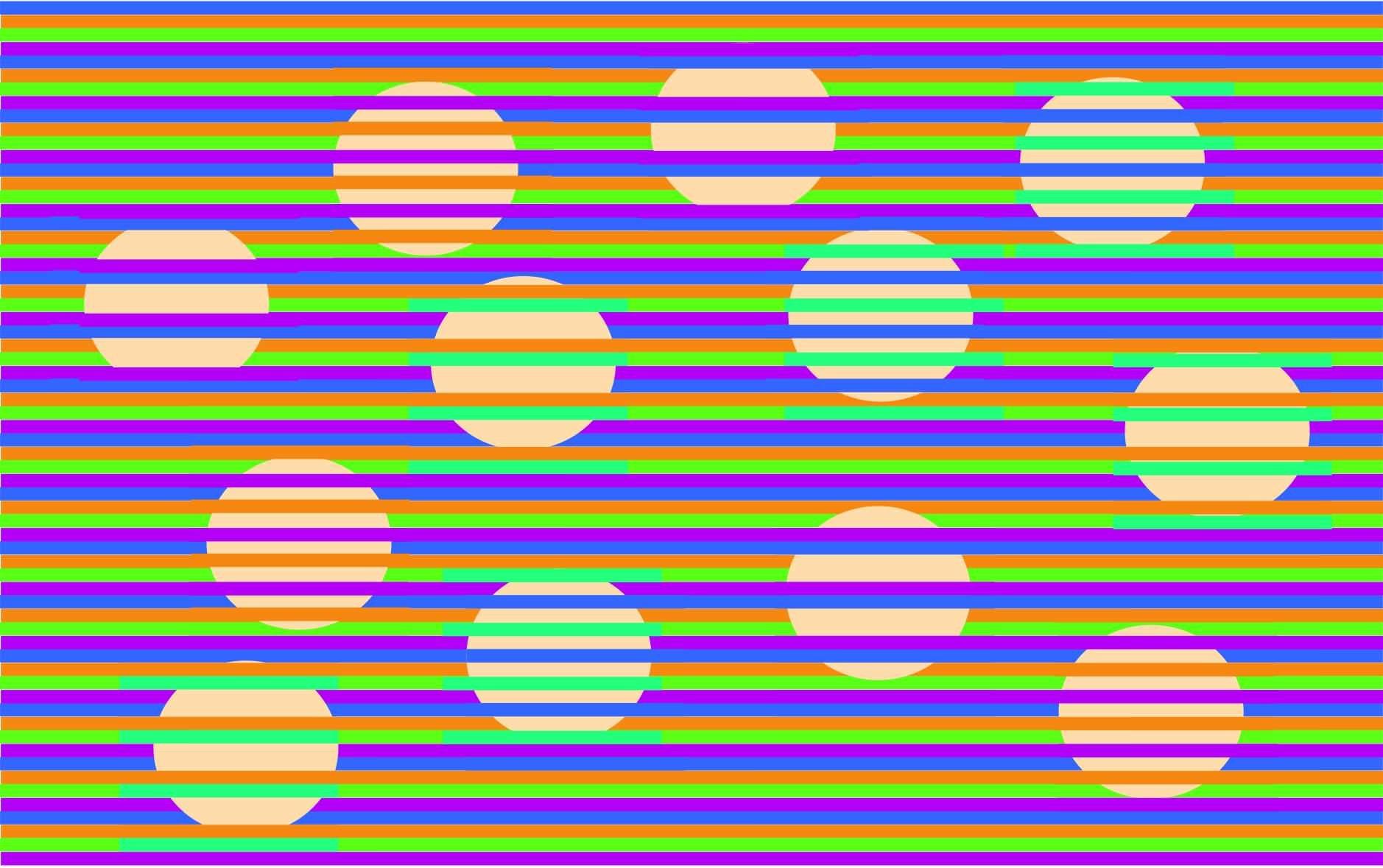 この円すべてがどれも同じ色だと!?色の同化や対比で違った色に見える「ムンカー錯視」の新作