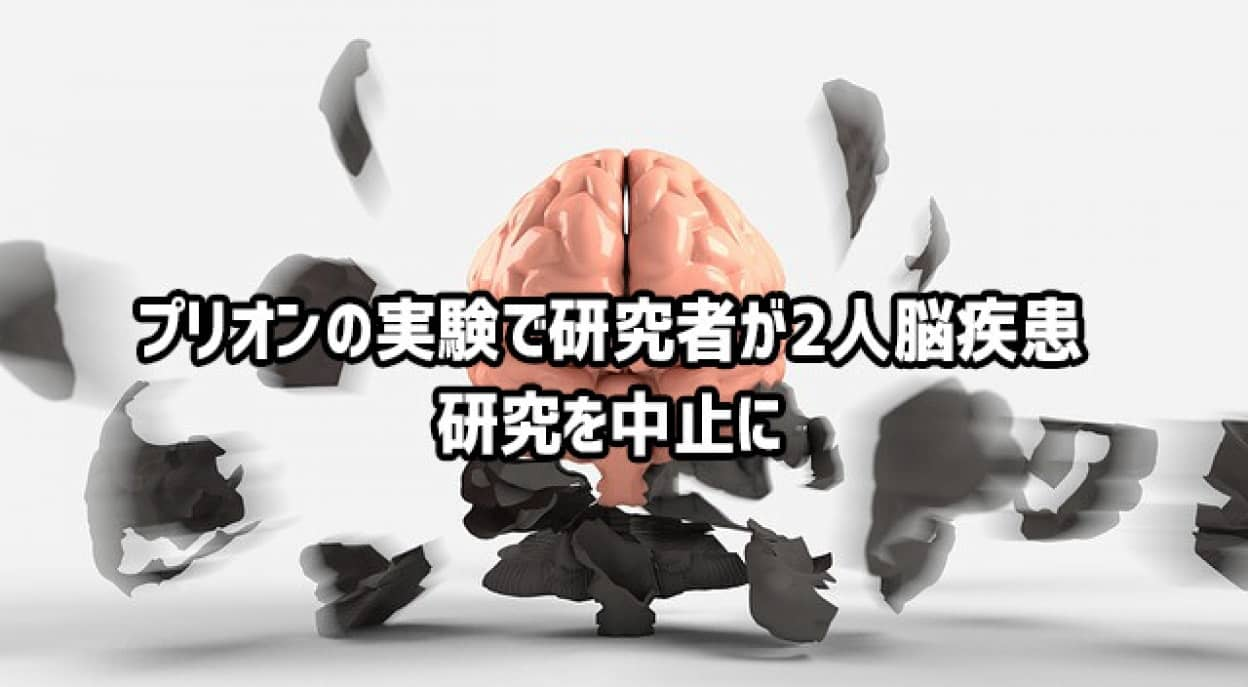 プリオンの実験で研究所職員に2度の脳疾患が確認され研究を中止に