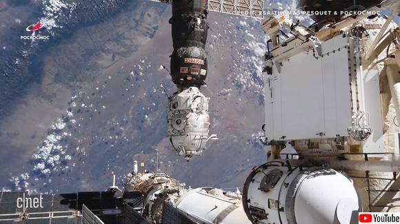 火の玉となって太平洋へと消えていく。国際宇宙ステーションから切り離されるモジュールの様子をとらえた映像
