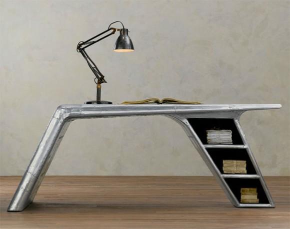 レトロスタイリッシュ!廃飛行機から作られた家具