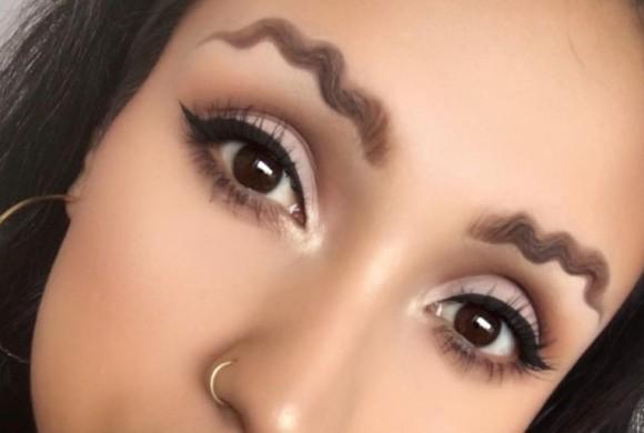 眉毛のトレンドがすごすぎてやばい。クネクネと曲がりくねった波状眉毛が海外でプチ流行中