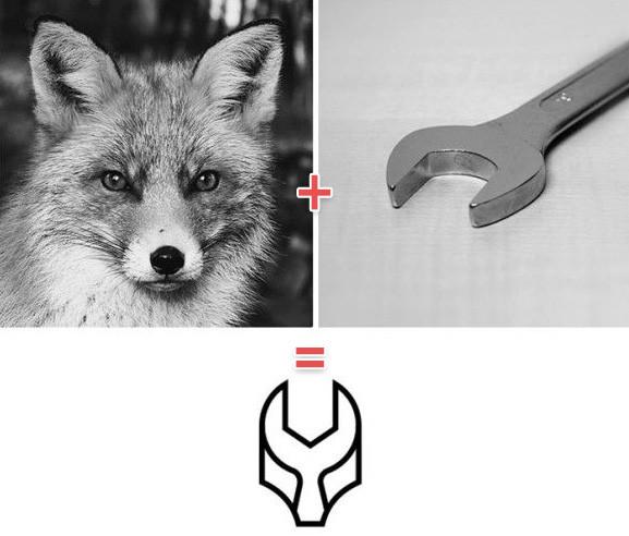 動物と何かを組み合わせて、シンボリックなアイコンを作ってみた。