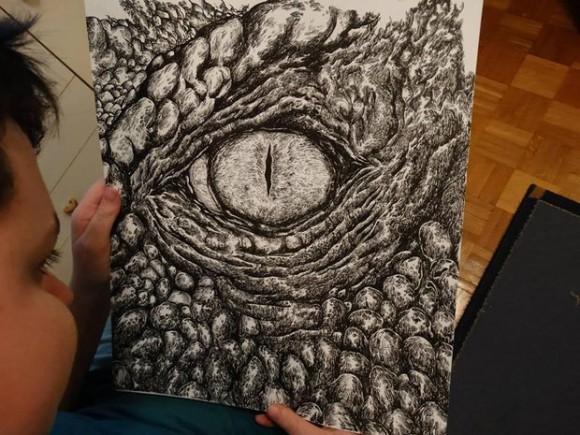 緻密で繊細!解剖学的に正しい動物の絵を描く15歳の少年