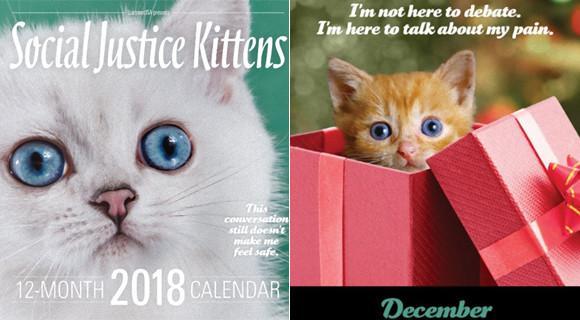 かわいいだけじゃないんです。子猫に社会正義を語らせたシニカルな「2018年子猫カレンダー」