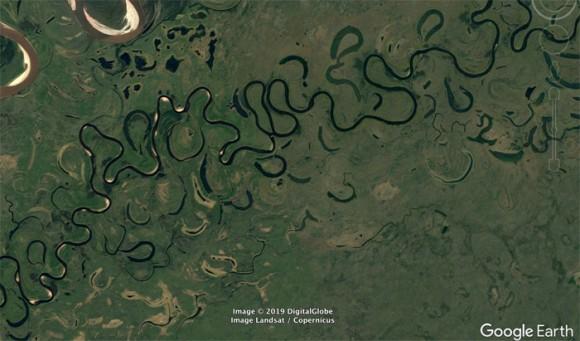 地質学者がGoogle Earth(グーグルアース)で見つけた、興味深い20の地形