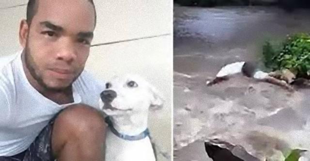 溺れた愛犬を救うため、危険を顧みず急流に飛び込んだ飼い主(パナマ)