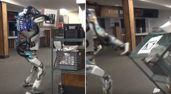 「2077年のAmazonプライム」と題された面白ロボット失敗動画(ジョーク・海外の反応)