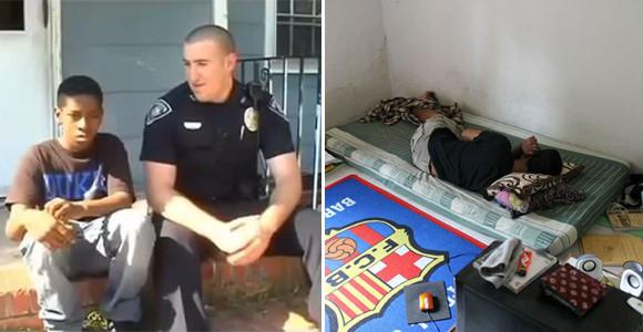 貧困に耐えかねて家出をしようと警察に相談した少年。その少年と絆を結んだ警察官の物語