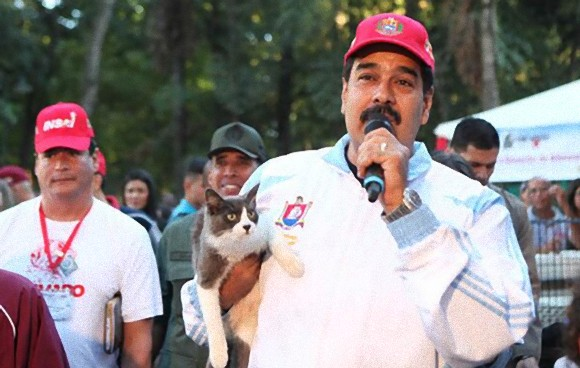 ベネズエラで行われている現代の生類憐れみの令。野良動物救済キャンペーンで大統領自ら野良猫を引き取る。