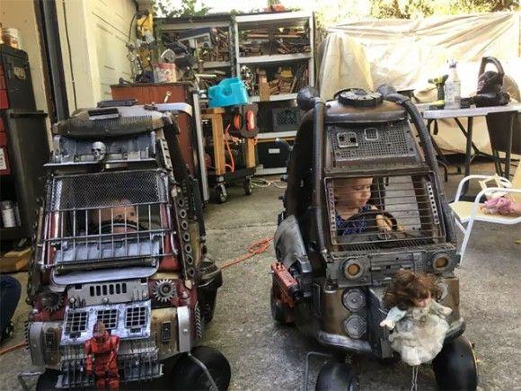 マッドマックスが大好きな父親、息子の乗用玩具をマッドマックス風に大改造