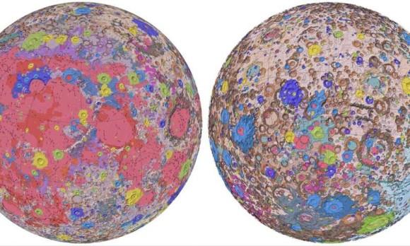 月の表面がまるごと詳細にわかる!月面地質マップ完全版がリリース(アメリカ地質調査所)