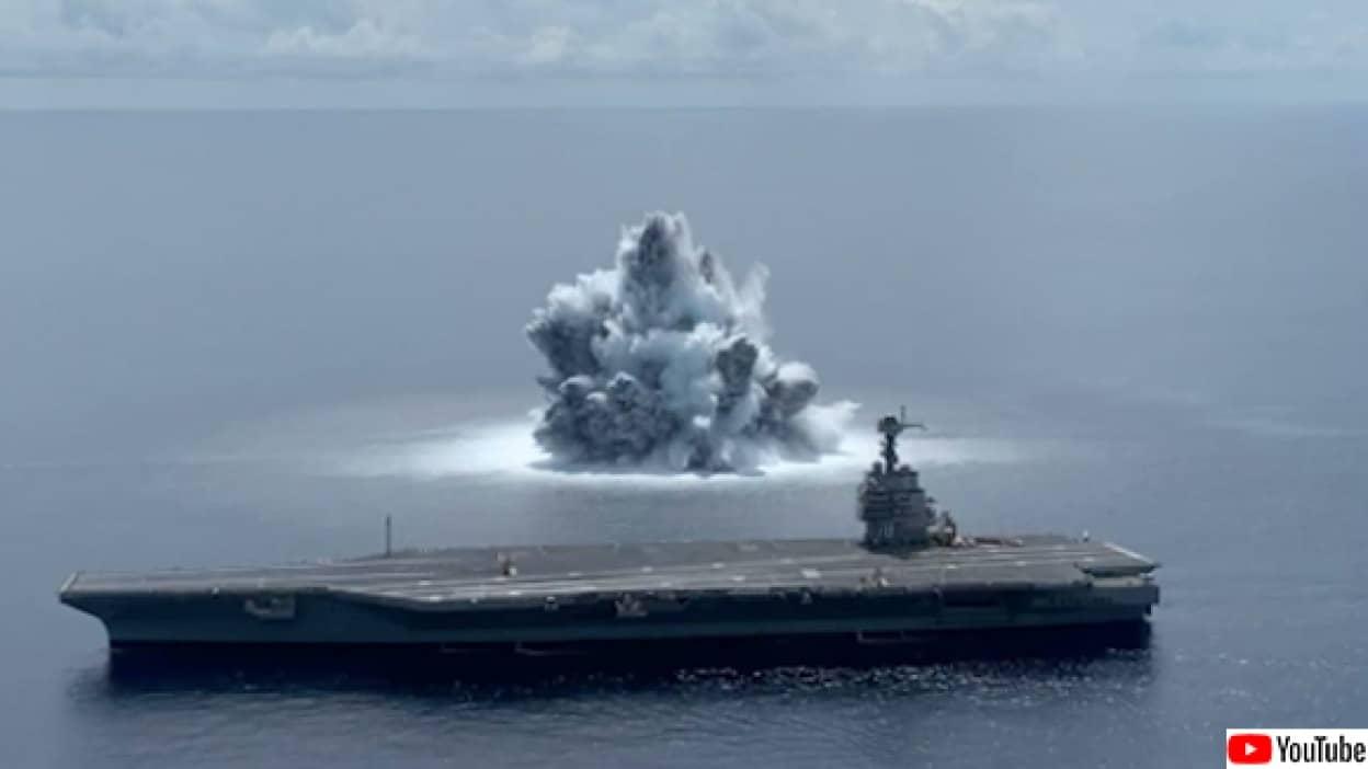 海軍の爆発演習で地震がおきたフロリダ州
