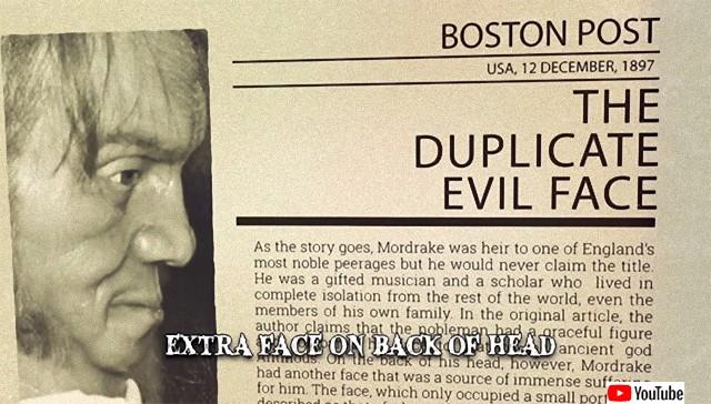 【都市伝説】後頭部にもう1つの小さな顔があり、邪悪な人格を持っていたと言われる「エドワード・モードレイク」の物語