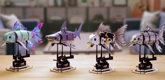 大人のための創造的チャレンジ。レゴの動く魚のおもちゃが資金調達1000%超えで商品化決定