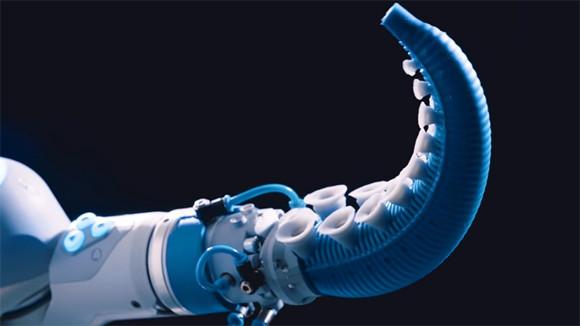タコの触手にインスパイアされて開発された、吸盤付きアームロボット「オクトパス・グリッパー」
