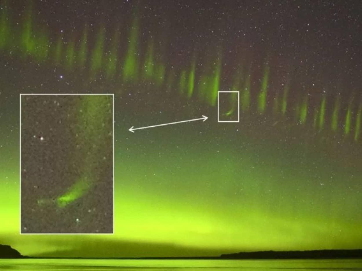 謎の大気現象スティーブにヒゲのような特徴を発見