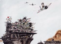 日本の零戦風刺漫画「ゼロ戦マン...
