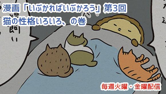 アレな生態系日常漫画「いぶかればいぶかろう」第3回:みんな違ってみんな猫