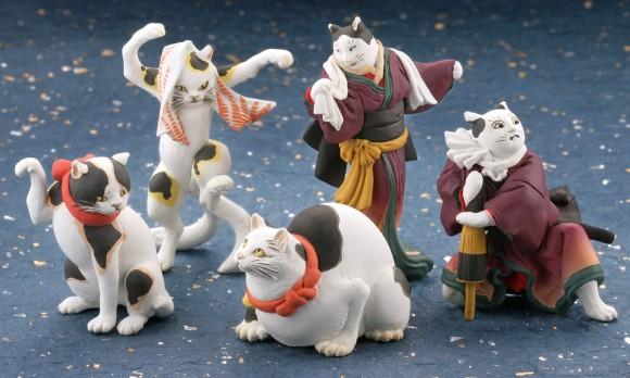 驚きの再現度!浮世絵師・歌川国芳が描いた猫たちが海洋堂のミニフィギュアになって新発売!