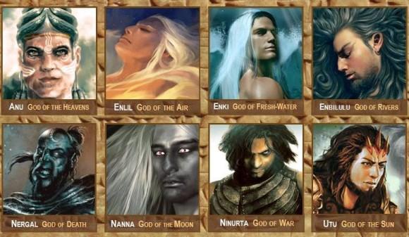古代メソポタミアにおける有名な12の神々
