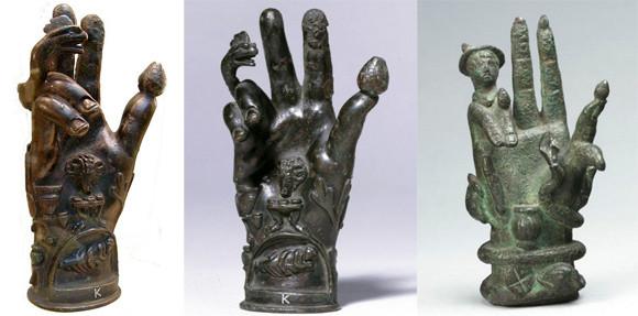 古代ギリシャ・ローマ時代のカルト信者が使用していた謎めいた手の彫刻「サバジオスの手」