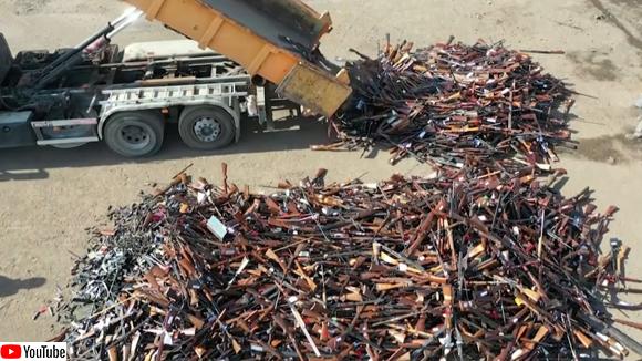 ベルギーで銃を回収、22000丁を溶かしその金属をリサイクル