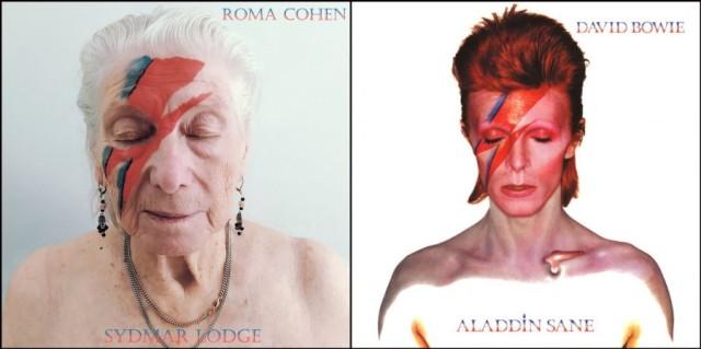 老人ホームのお年寄りたちによるアートチャレンジ。有名なアルバムジャケットの再現に挑戦!(イギリス)