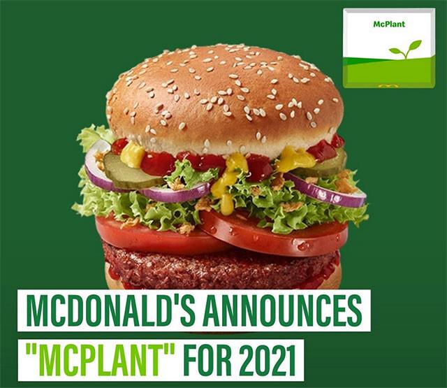 マクドナルドが植物代替肉のハンバーガーを来年販売予定
