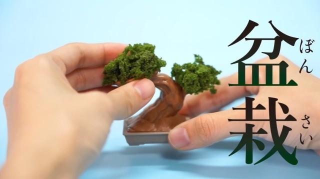 盆栽も作りたいしお菓子も食べたい。両方満たしてくれる食玩「おかしの盆栽」