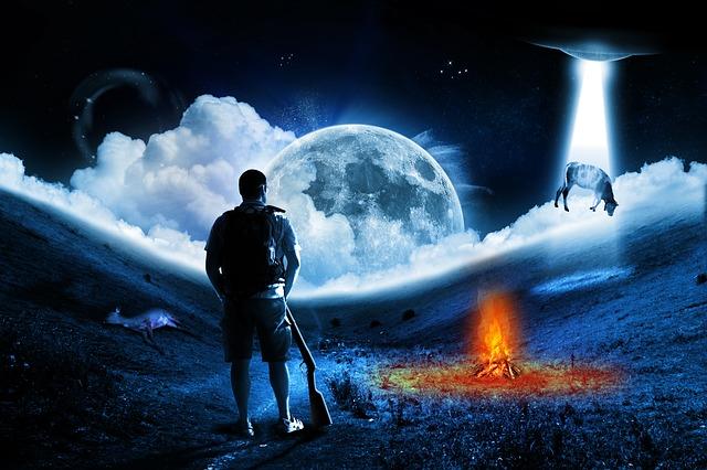 ハロウィンでブルームーンの満月