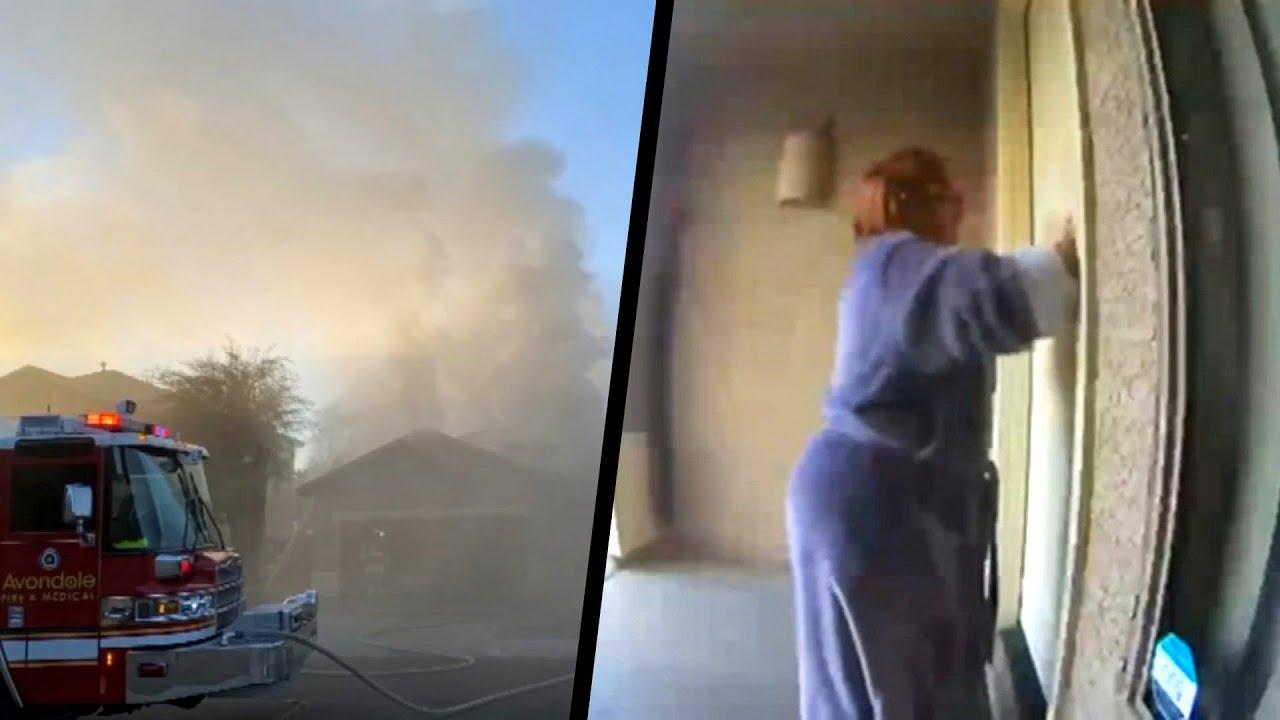 火災から家族6人を救った隣人女性