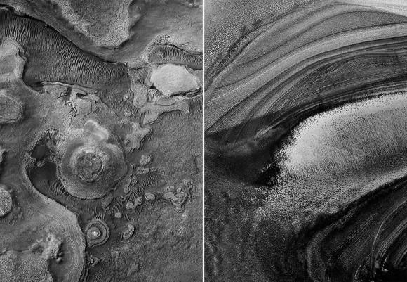 モノクロだから良くわかる。火星の地表の驚くべき造形を撮影した写真