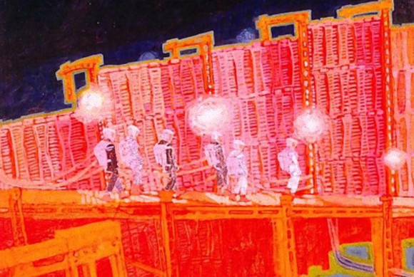 キューブリック映画「2001年宇宙の旅」50周年を記念して初公開された撮影現場を記録した素晴らしいイラスト
