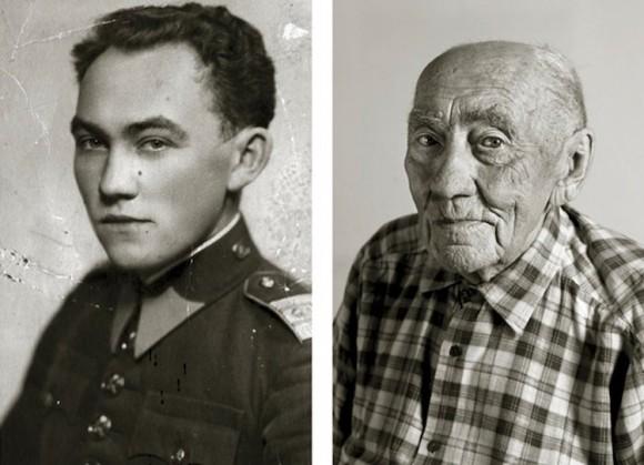 そして仙寿となる。チェコ在住の100歳以上になった老人たちの若かりし頃の姿を比較したビフォア・アフター画像