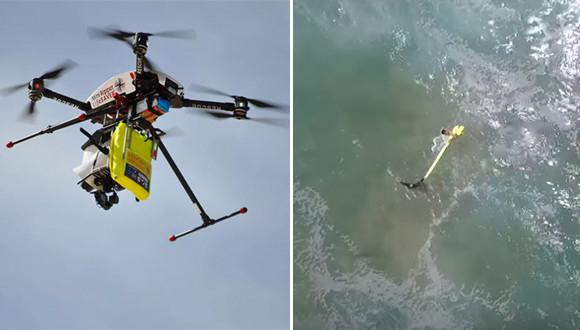 ドローンがグッジョブ!溺れた人に浮輪を運び無事救出に成功(オーストラリア)