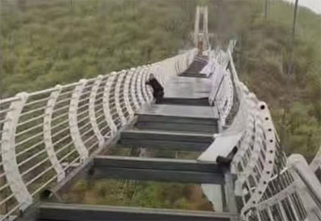 ガラスのつり橋がno title