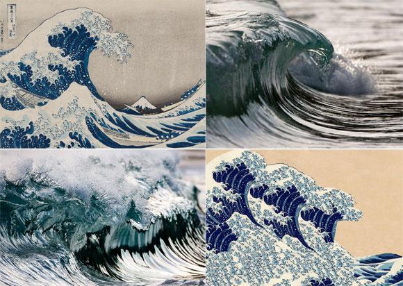 葛飾北斎が描いた波は、ハイスピードカメラでとらえた波と酷似していた。