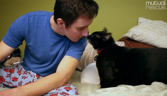 生きる気力を失った米軍兵士の前に突然現れた小さな子猫。生きる手助けを終えた後虹の橋へ(アメリカ)