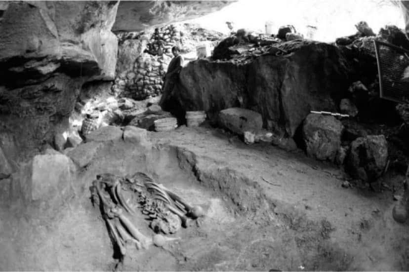 メソアメリカ時代の生贄の骨格