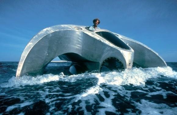 70~80年代のレトロフューチャー。フランスの海洋学者、ジャックス・ルージェリの設計した素晴らしい海洋建造物や乗り物。