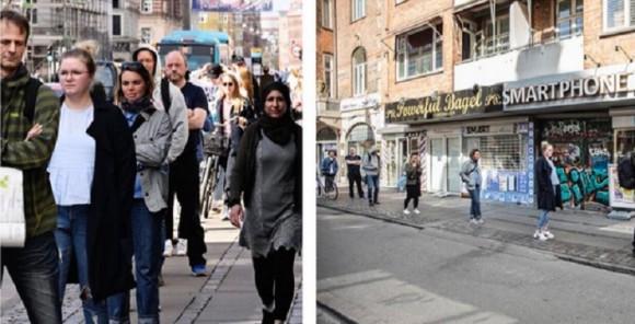 印象操作も可能な撮影トリック。同じ時、同じ場所にいる人々をレンズを変えて撮影した比較写真