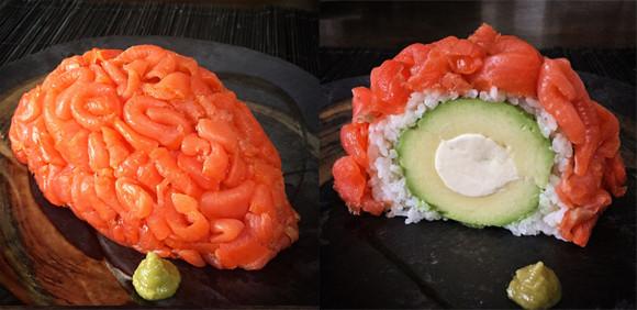 頭が良くなる?かも?お正月に食べたい、スモークサーモンとアボカドチーズの「脳寿司」レシピ【ネトメシ】