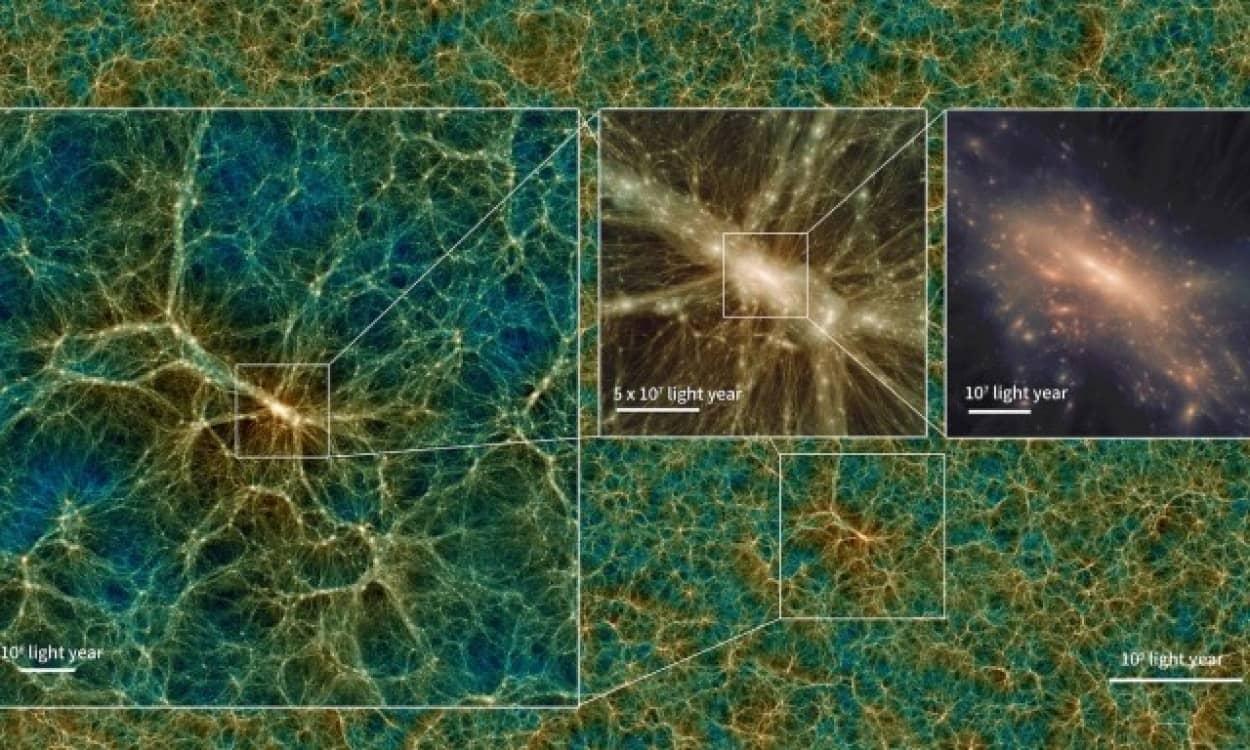 世界最大規模のダークマター構造、模擬宇宙が公開