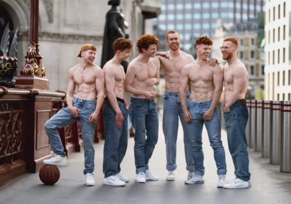 ジンジャーヘア(赤毛)の男性のカレンダー作成の為モデル募集